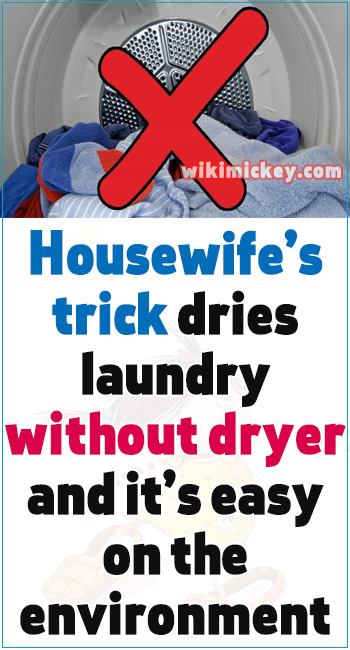 Housewife's trick dries laundry without dryer – and it's easy on the environment 6