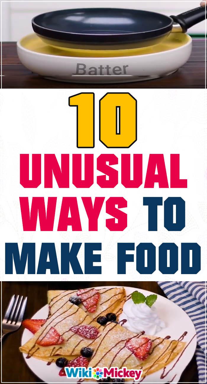 10 Unusual ways to make food! 2