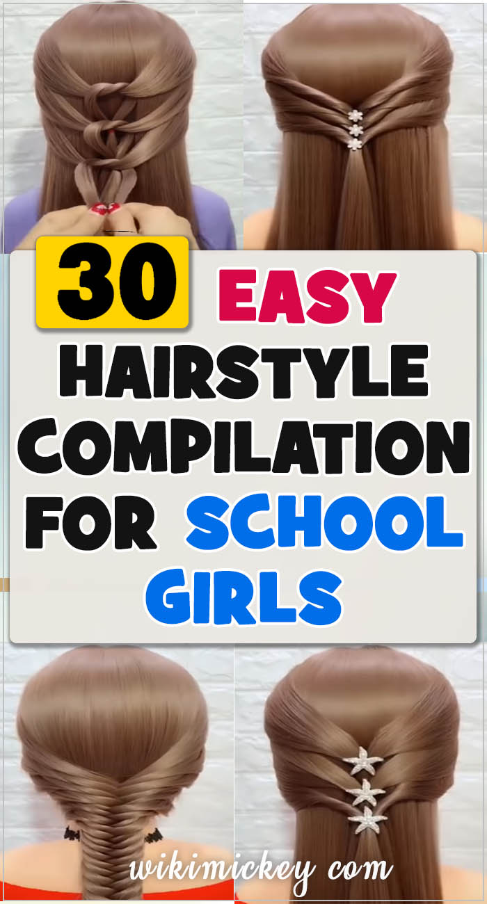 30 simple hairstyles for school girls! 3