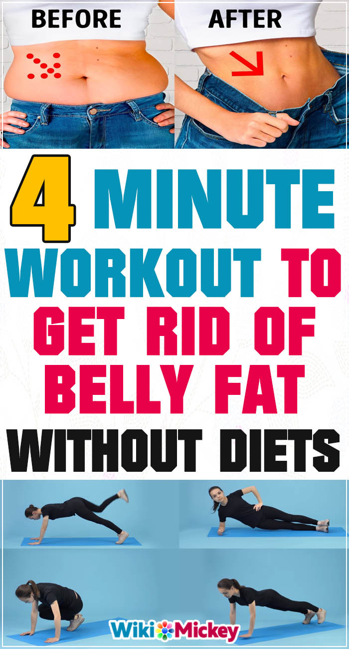 4-Minute Workout to Get Rid of Belly Fat Without Diets 1