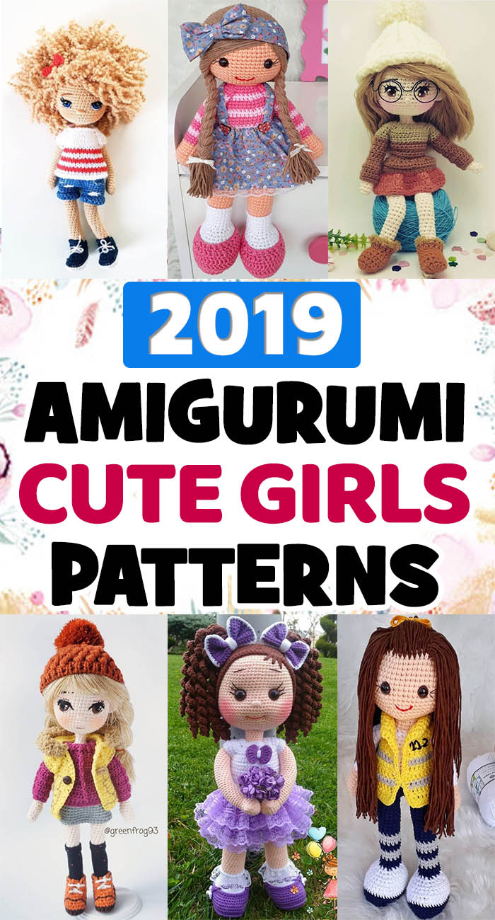 2019 Amigurumi girl patterns! 45