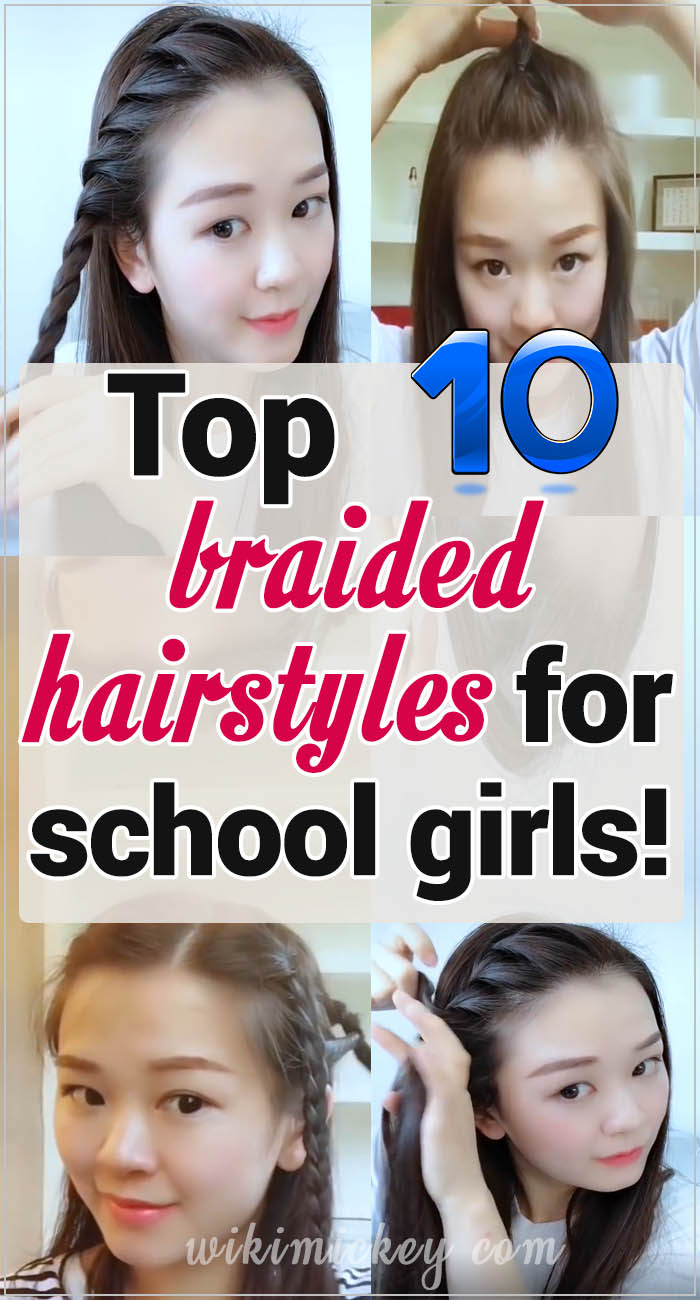Top 10 braided hairstyles for school girls! 3
