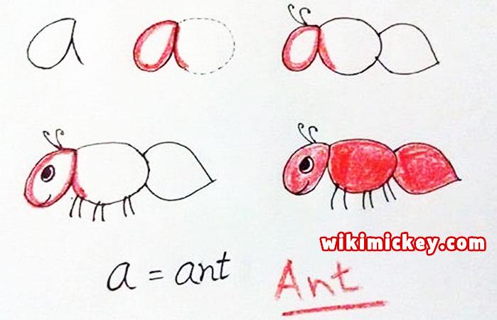 easy drawing ideas for kids easy draw ant kolay çizim karınca resmi draw step by step