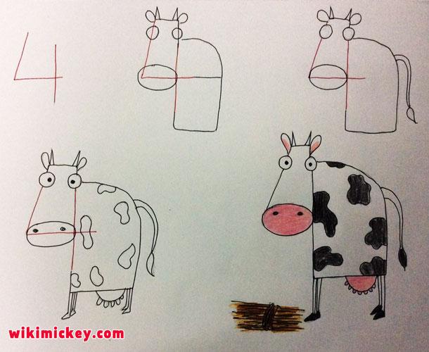 easy drawing ideas for kids easy draw cow calf inek vache kolay çizim inek