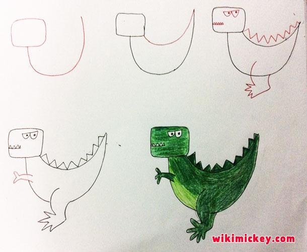 easy drawing ideas for kids easy draw dinosour dinosaur kolay çizim dinozor