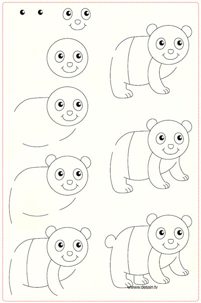 easy drawing ideas for kids easy draw panda kolay çizim panda draw step by step