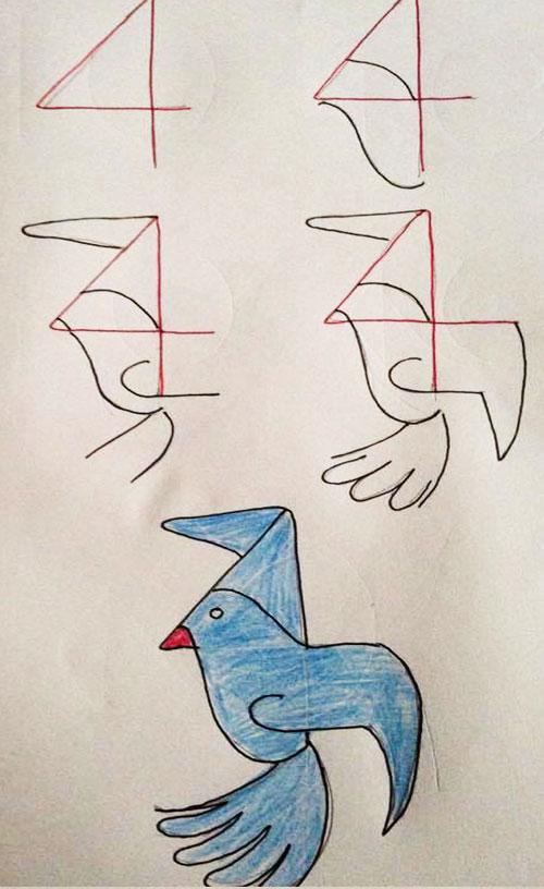 easy drawing ideas for kids easy draw bird kolay çizim kuş