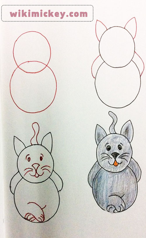 easy drawing ideas for kids easy draw cat kedi kolay çizim chat dessine