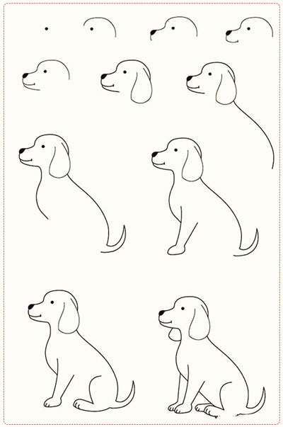 easy drawing ideas for kids easy draw dog puppy kolay çizim köpek enik resmi horoz draw step by step