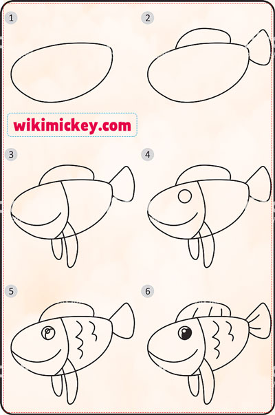 easy drawing ideas for kids easy drawfish whale kolay çizim balık balina resmi horoz draw step by step