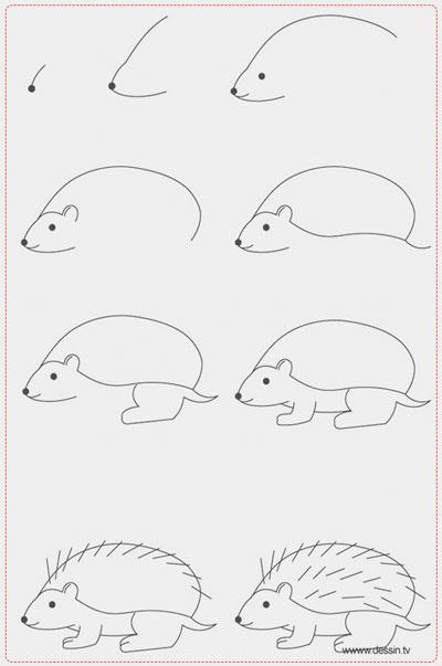easy drawing ideas for kids easy draw hedgehog kolay çizim kirpi resmi horoz draw step by step