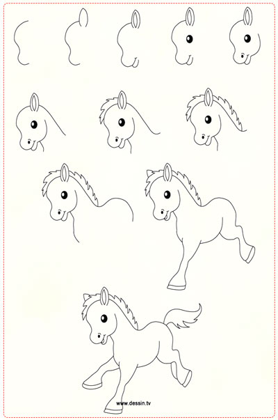 easy drawing ideas for kids easy draw foal kolay çizim tay resmi draw step by step