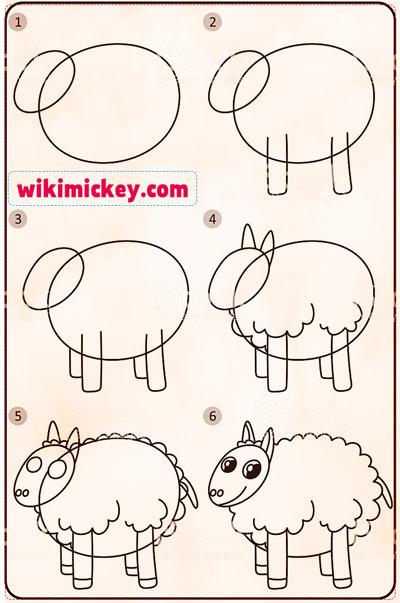 easy drawing ideas for kids easy draw sheep kolay çizim koyun resmi draw step by step