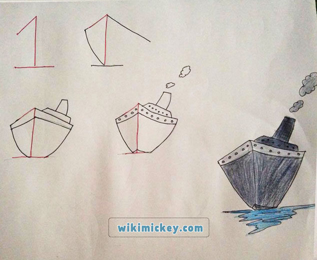 easy drawing ideas for kids easy draw ship gemi kolay çizim