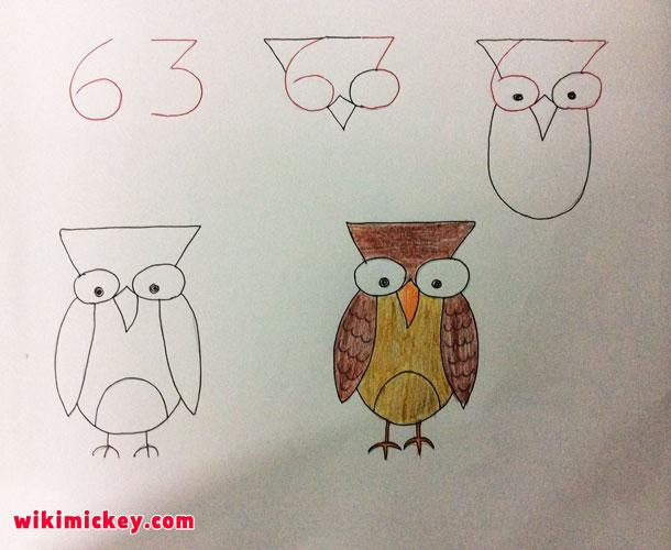 easy drawing ideas for kids easy draw owl bird kolay çizim baykuş