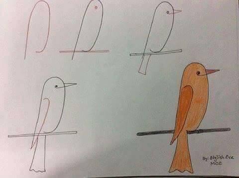 easy drawing ideas for kids easy draw bird cute kolay çizim kuş draw step by step