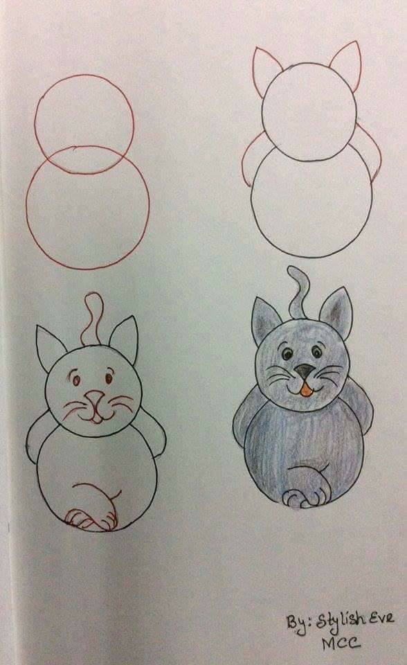 easy drawing ideas for kids easy draw cat kitten kolay çizim kedi draw step by step