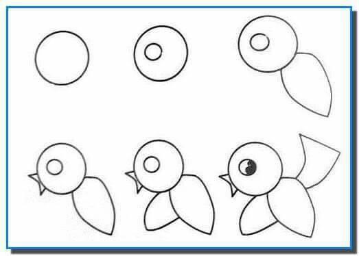 easy drawing ideas for kids easy draw bird kolay çizim kuş draw step by step-