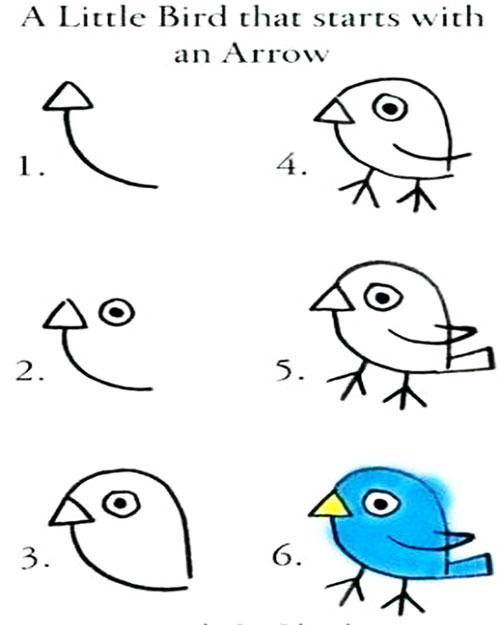 easy drawing ideas for kids easy draw cute bird blue kolay çizim kuş draw step by step