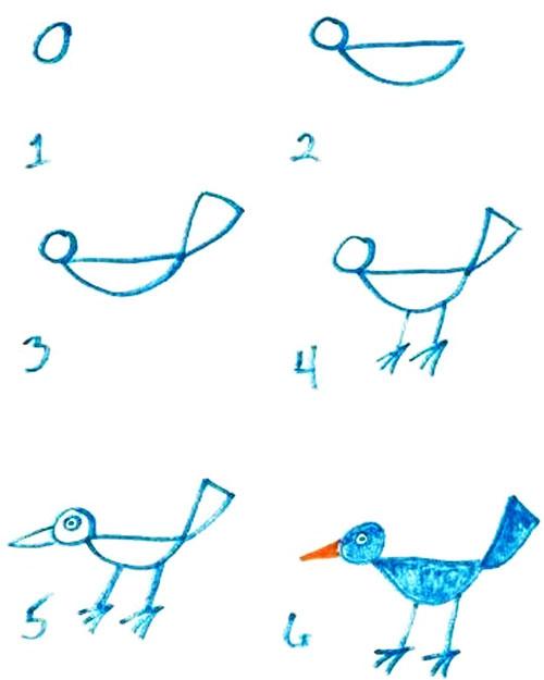easy drawing ideas for kids easy draw bird crow kolay çizim kuş draw step by step