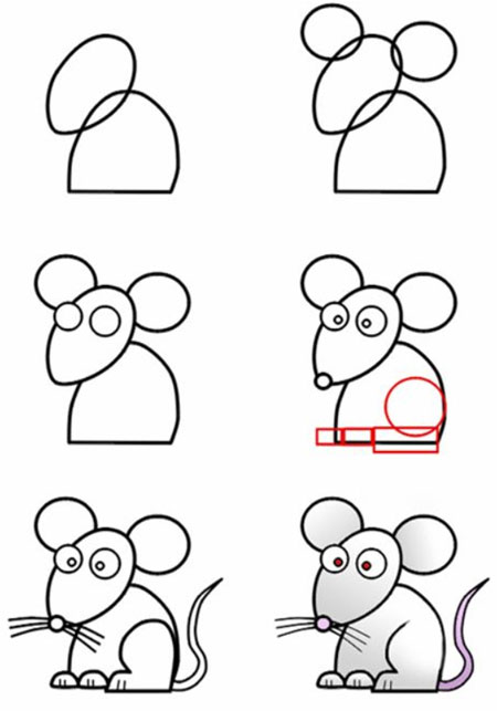 easy drawing ideas for kids easy draw mouse mice rat kolay çizim fare draw step by step