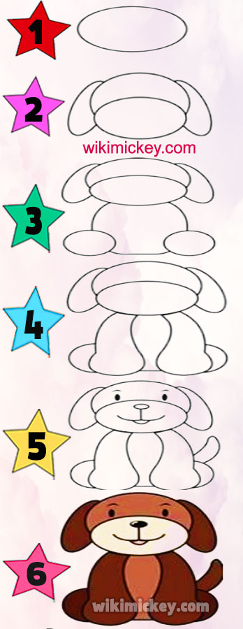 easy drawing ideas for kids easy draw dog puppy chien dessin facile