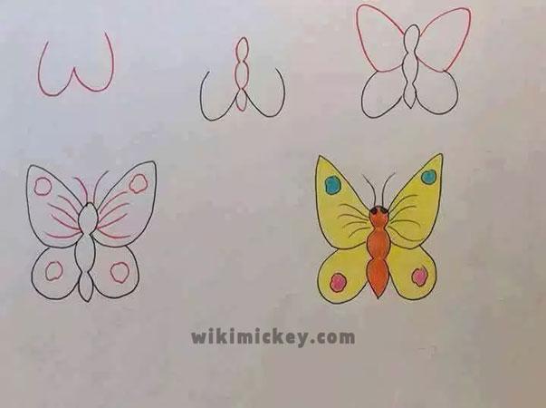 easy drawing ideas for kids easy draw butterfly kolay çizim kelebek