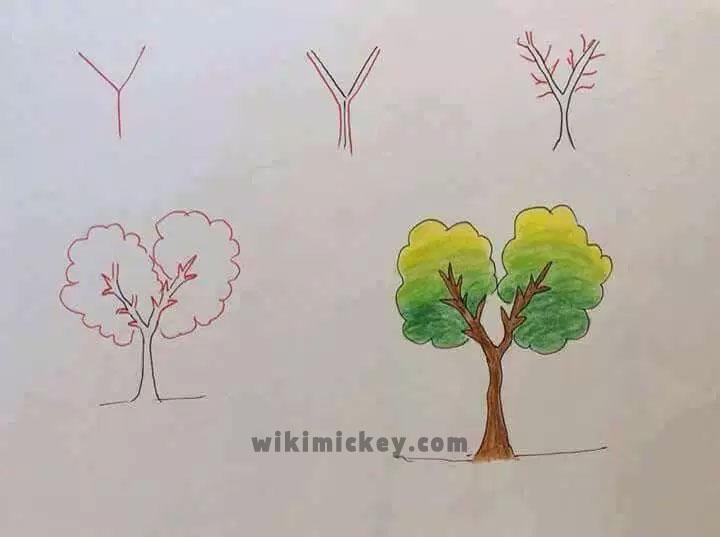 easy drawing ideas for kids easy draw tree arbre kolay çizim ağaç