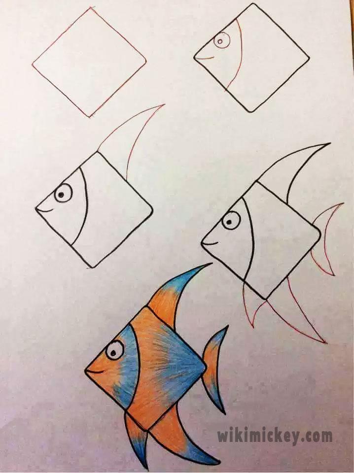 easy drawing ideas for kids easy draw fish kolay çizim balık
