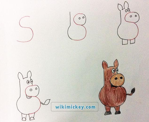 easy drawing ideas for kids easy draw donkey horse kolay çizim eşek