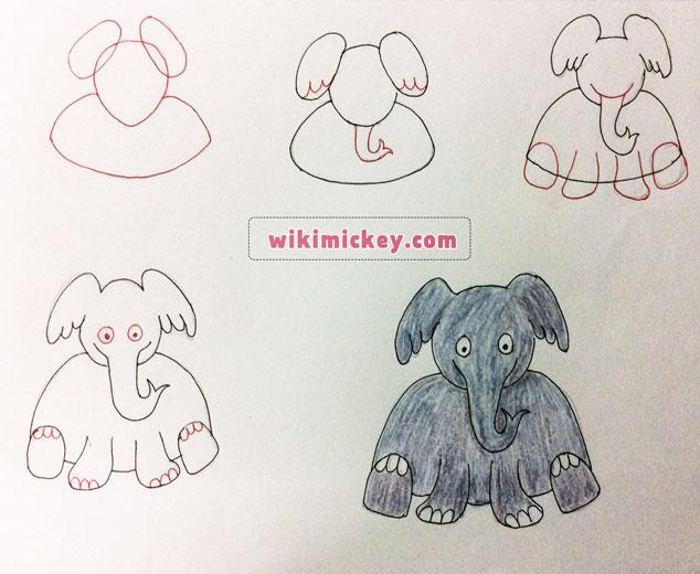 easy drawing ideas for kids easy draw elephant kolay çizim fil