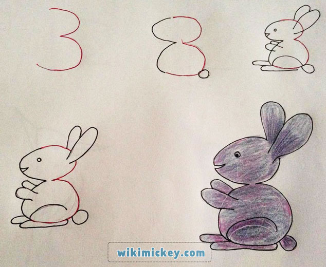 easy drawing ideas for kids easy draw rabbit bunny lapin tavşan kolay çizim