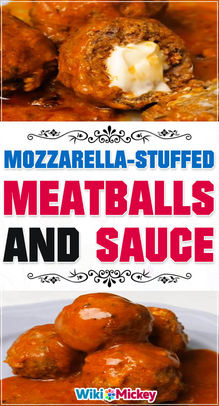 Mozarella Stuffed Meatballs! 4