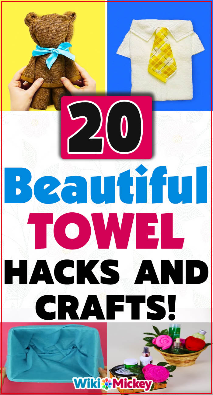 20 Beautiful towel hacks and crafts! 3