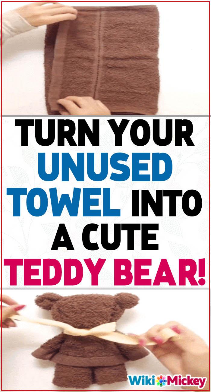 Making Teddybear with a towel! 3