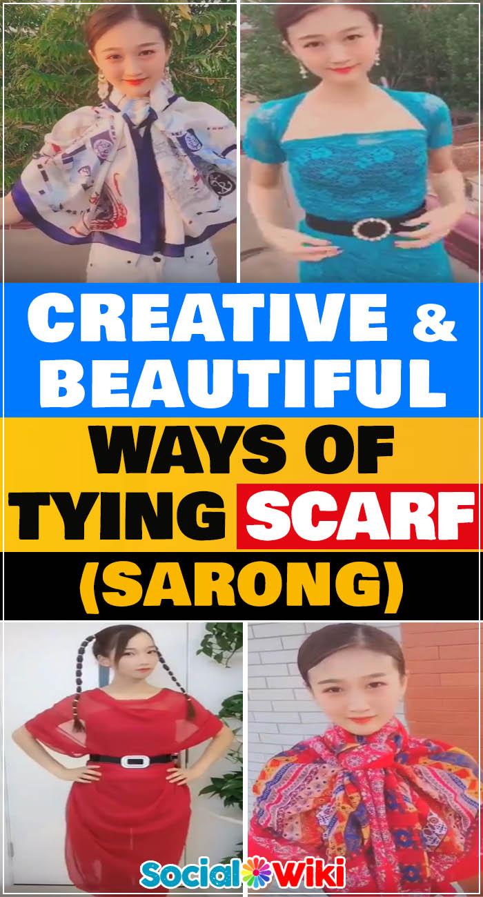 Creative & Beautiful Ways of Tying Scarf 2