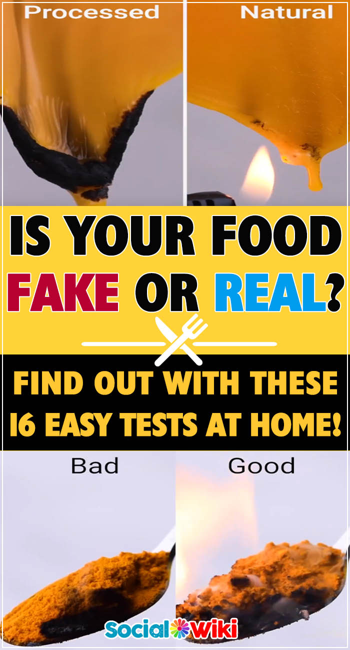 Is your food fake or real? 2