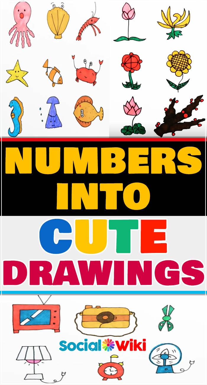 Turn numbers into Cute Drawings! 1
