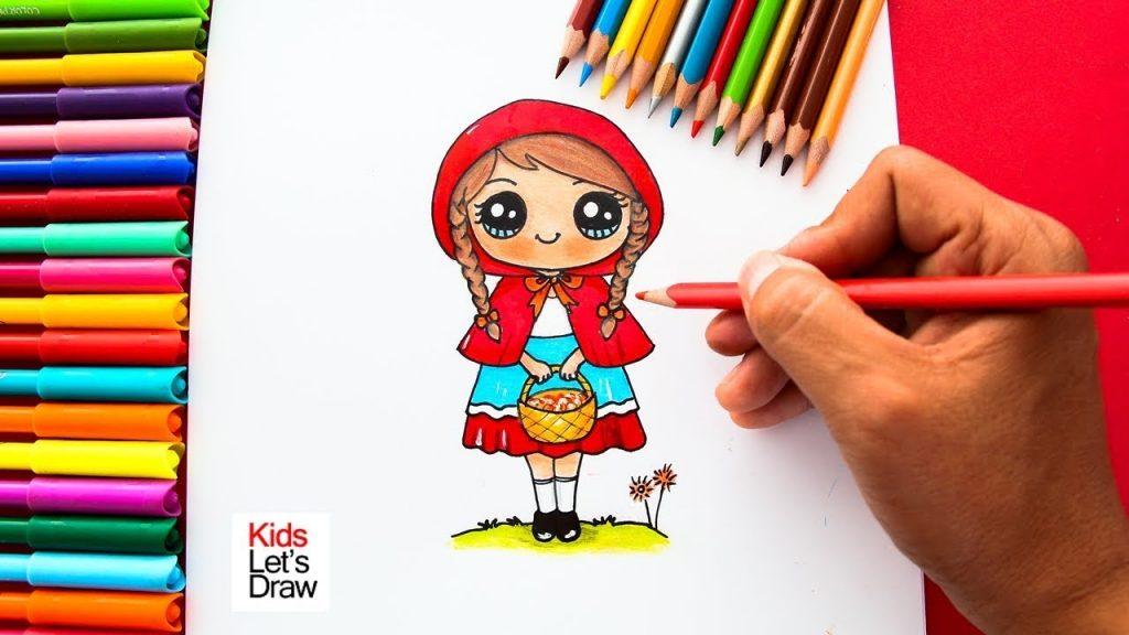 Cómo Dibujar A Caperucita Roja De Manera Fácil How To Draw Little Red Riding Hood Social Useful Stuff Handy Tips