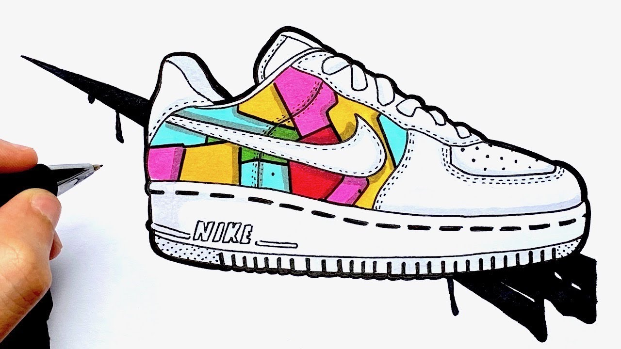 COMMENT COLORIER DES NIKE AIR FORCE ONE CUSTOM | Social Useful ...