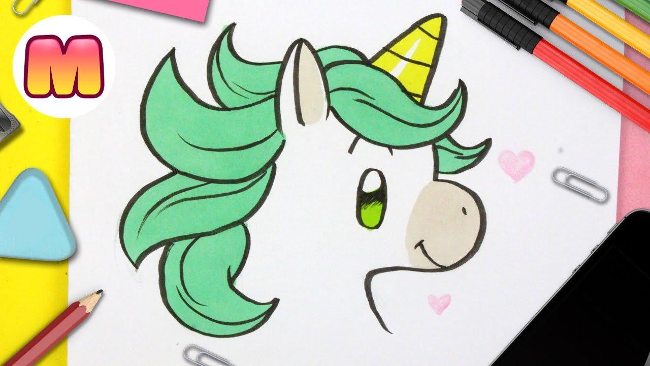 Como Dibujar Un Unicornio Kawaii Aprender A Dibujar Y Colorear Dibujos De Unicornios Facil Social Useful Stuff Handy Tips